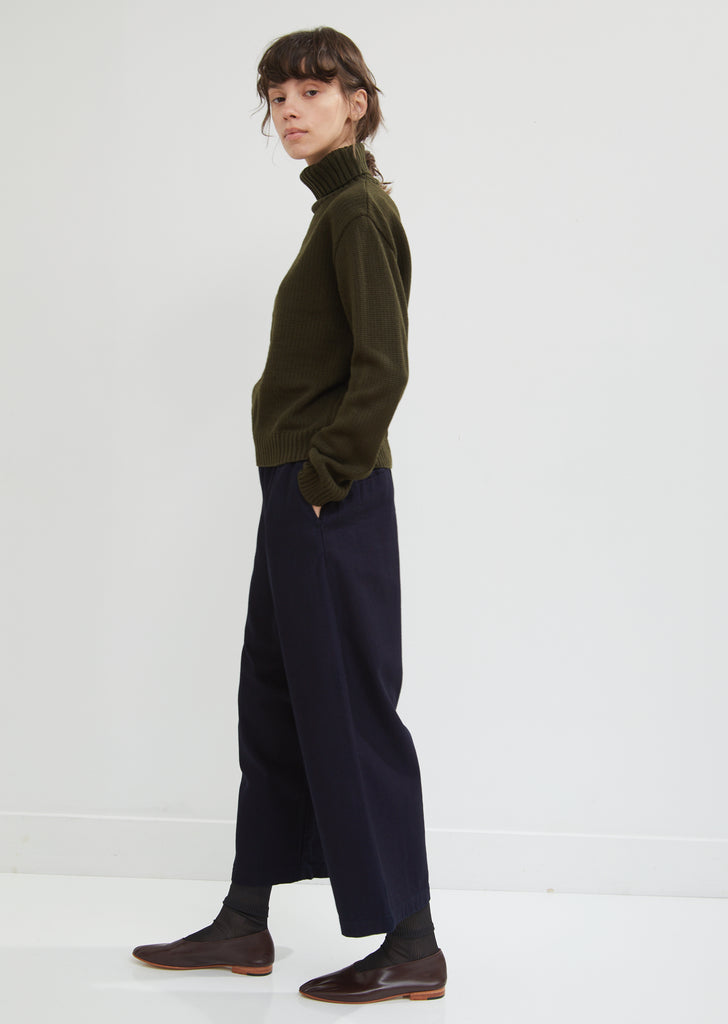 Back Satin Full Wide Pants