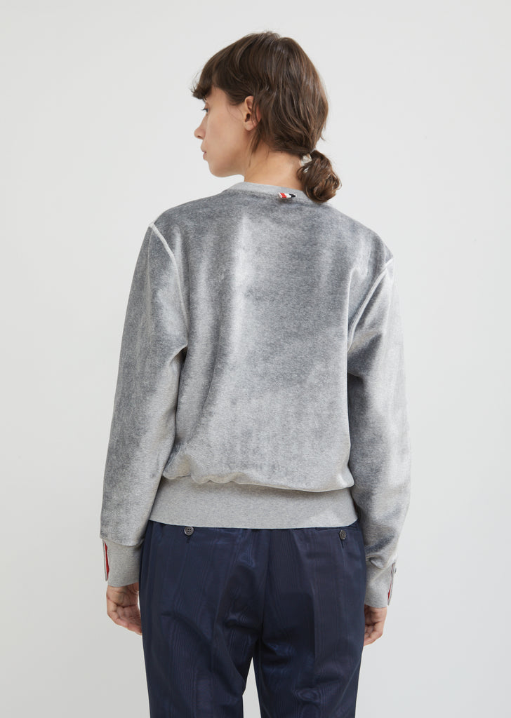 Relaxed Fit Velvet Crewneck