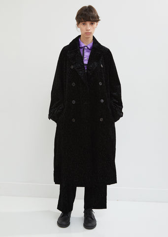 Velvet Flower Embossed Coat
