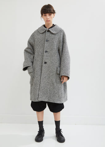 Wool Herringbone Tweed Coat
