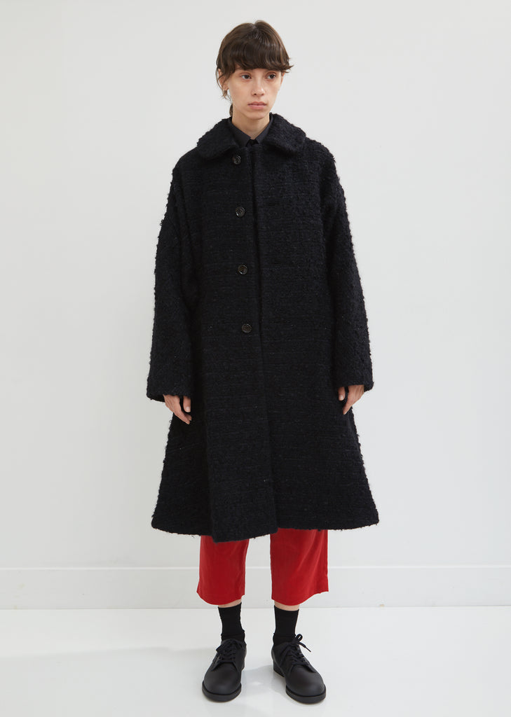Wool Mohair Bouclé Coat
