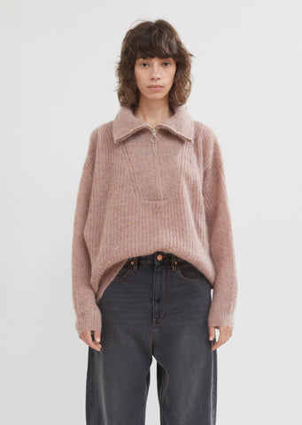 Cyclan Mohair Half Zip Sweater