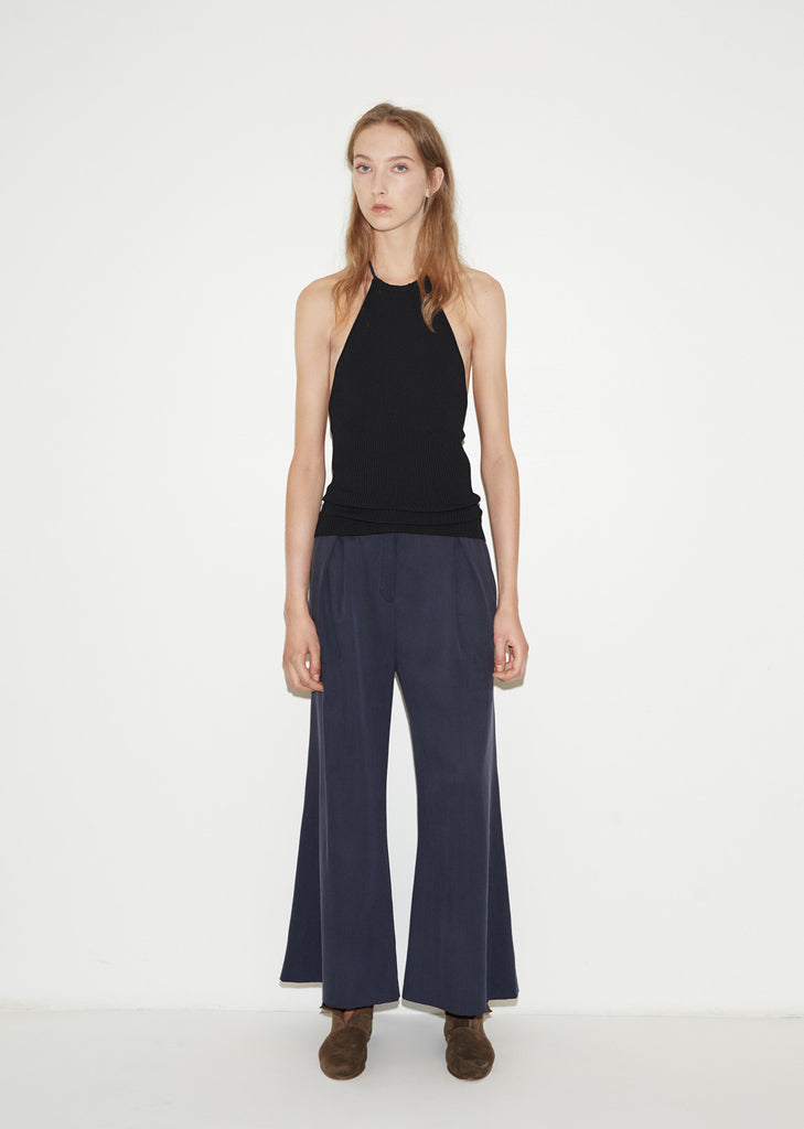 Silk Flared Trouser