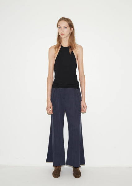 Silk Flared Trousers