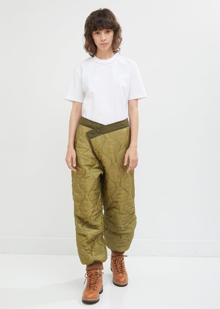 Refurbished Quilted Crossover Pants