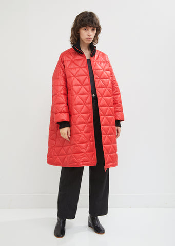 Quilted Rib Collar Bomber Jacket