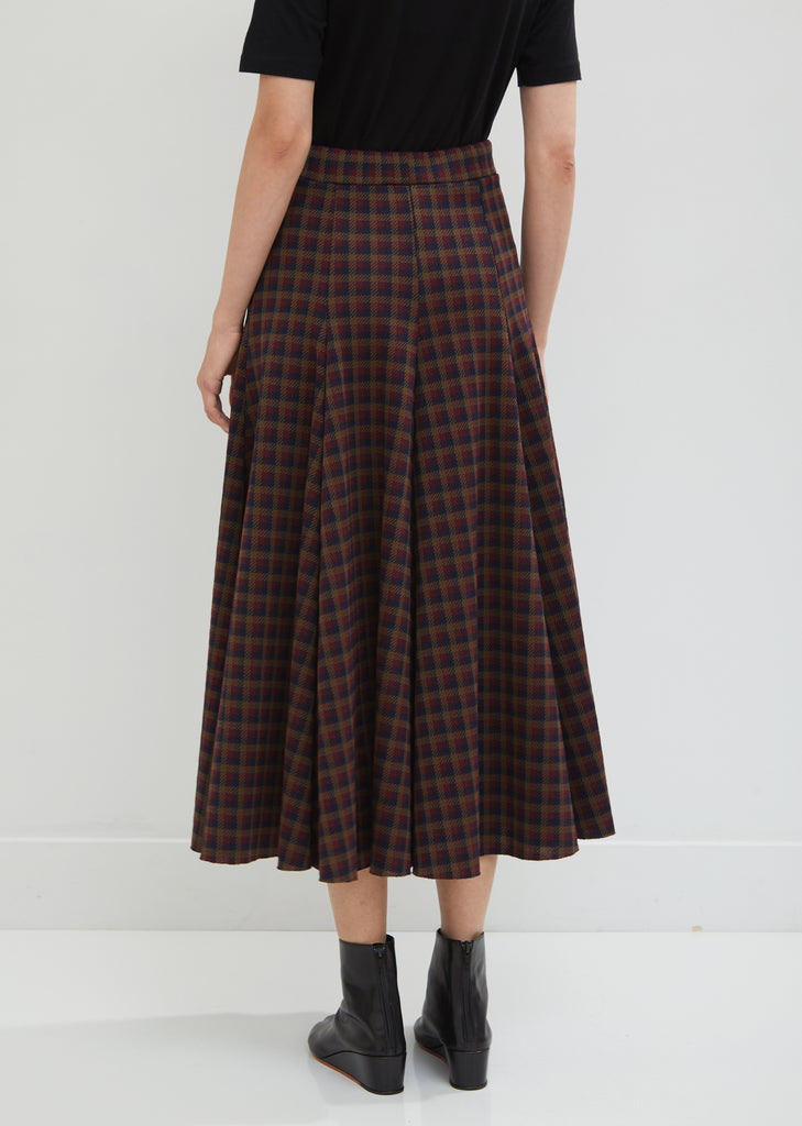 Checked A-Line Skirt
