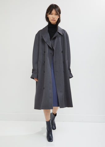 Cavalry Wool Double Breasted Coat