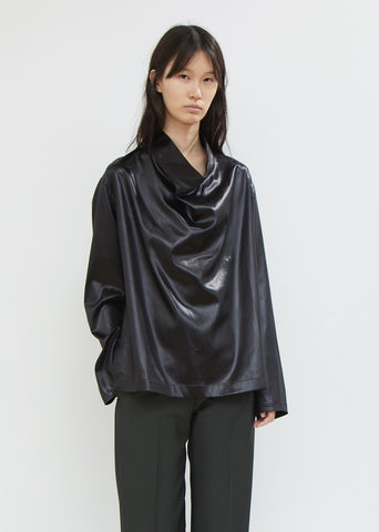 Satin Cowl Neck Top