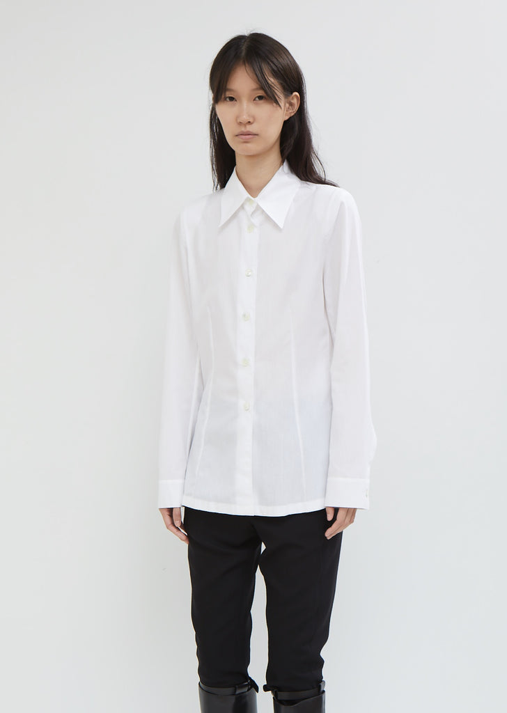 Rigatino Button Front Shirt