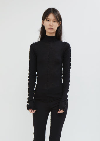 Lavinia Wool Turtleneck Top