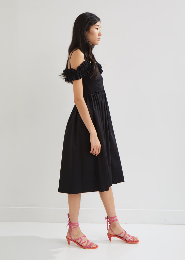 Paula Shirred Cotton Dress