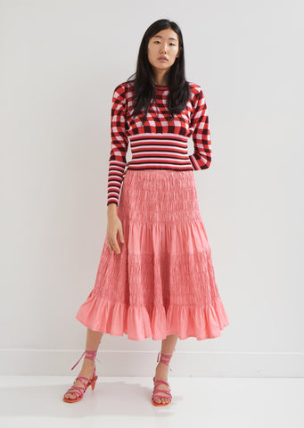 Helene Shirred Taffeta Skirt