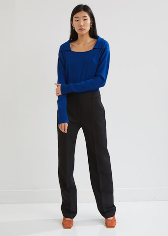 Le Pantalon Carina Wool Crepe Trousers