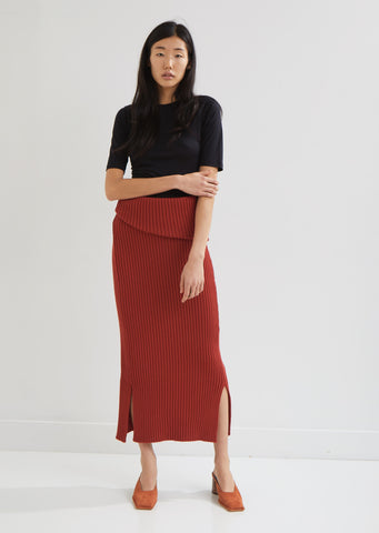 La Jupe Sadhia Wool Ribbed Skirt
