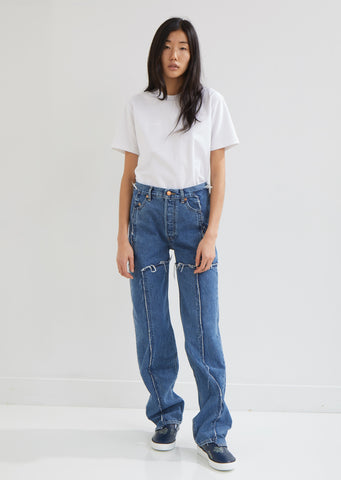 X Levi's Frayed Denim Pants