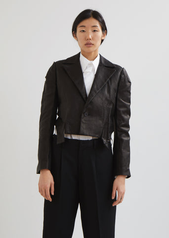 Leather Out Stitch Jacket