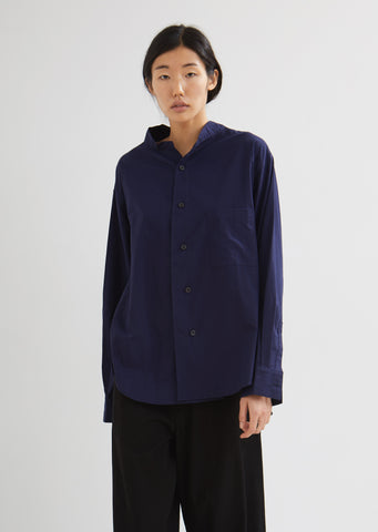 U-Open Collar Cotton Shirt