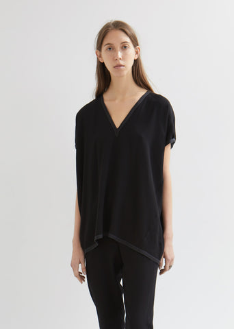Ania Draped V-Neck Top