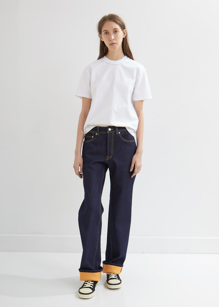 Patch Pocket Indigo Trousers