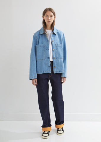 Cropped Work Denim Jacket