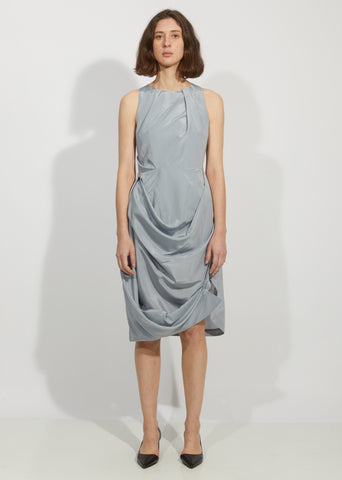 Overlapping Drape Dress