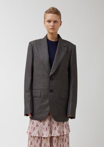 Wool Sharkskin Blazer