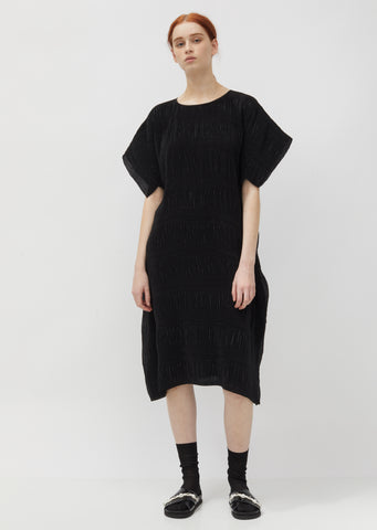No.3 Pleated Crepe Dress