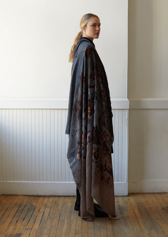 Hiver Wool Cashmere Silk Blend Scarf