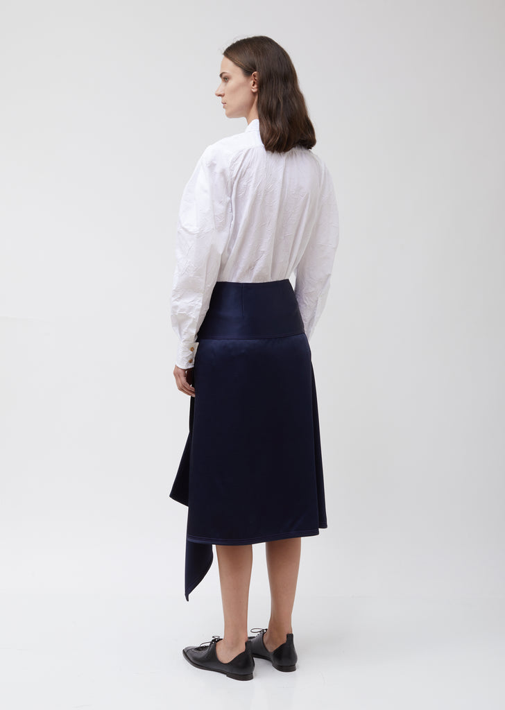 Tamiko Twill Satin Skirt w/ Straps