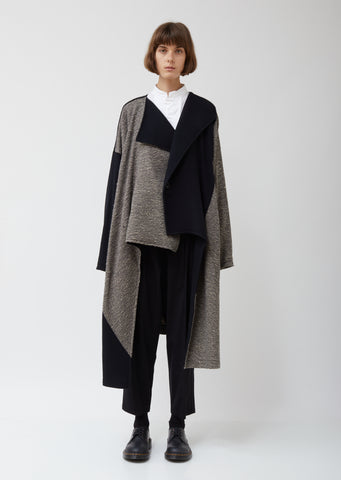 O-collarless Wool Big Coat B