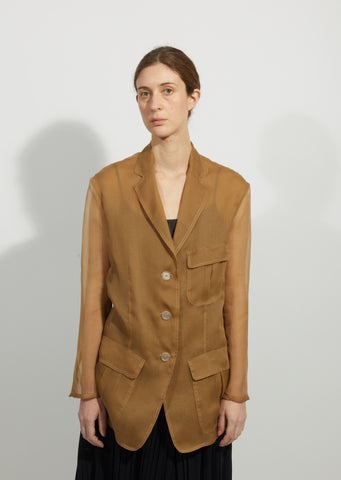 Silk Organdy Safari Jacket