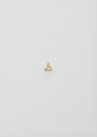 10MM 3D TRIANGLE EARRINGS WITH DIAMONDS