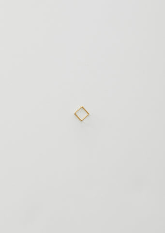 10MM 3D SQUARE EARRING