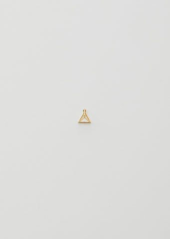10MM 3D TRIANGLE EARRING