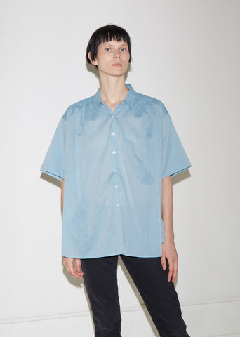 Shirred Cotton Shirt