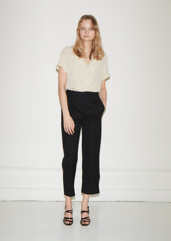 Cascading Wool Trousers