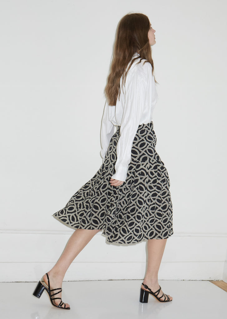 Inaya Printed Silk Skirt