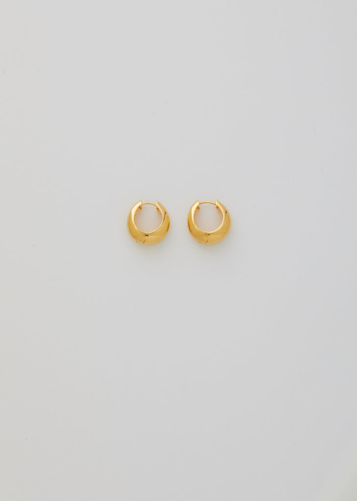 Gold Hinged Hoops, Large
