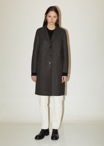 Overcoat Double Faced Wool Cocoon Coat