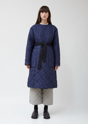 Clecy Wrinkled Quilting Coat