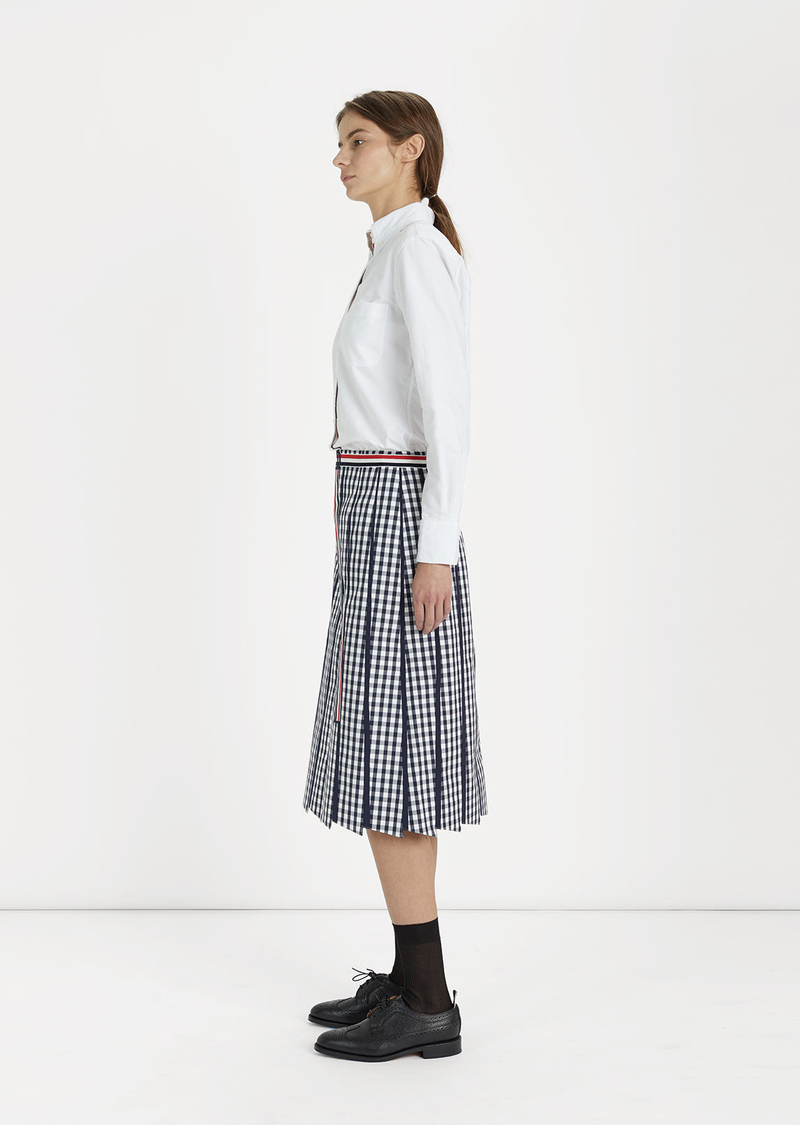 Trompe L'Oeil Pleated Skirt