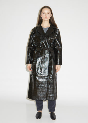Mira Lacquered Coat