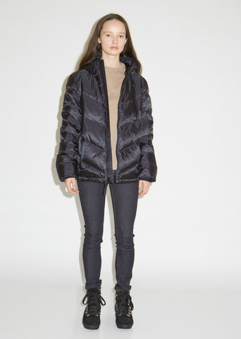 Chevron Hooded Down Jacket