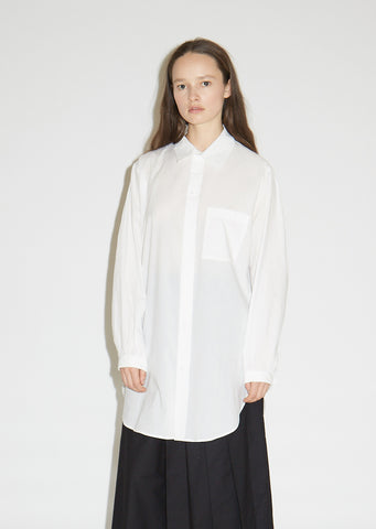 Cotton Long Smock Shirt