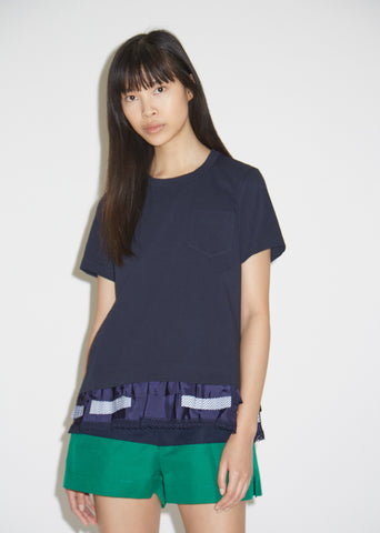 Layered Hem Cotton T-Shirt