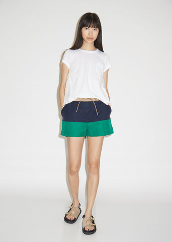 Color Block Grosgrain Shorts