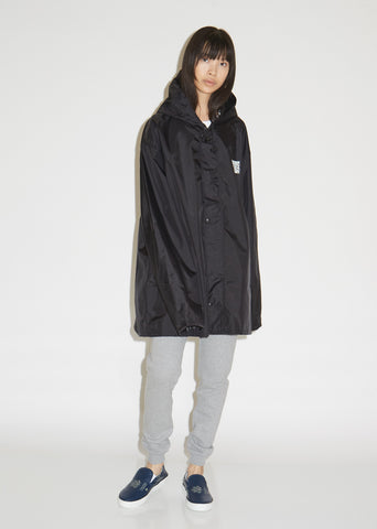 QR Code Short Raincoat