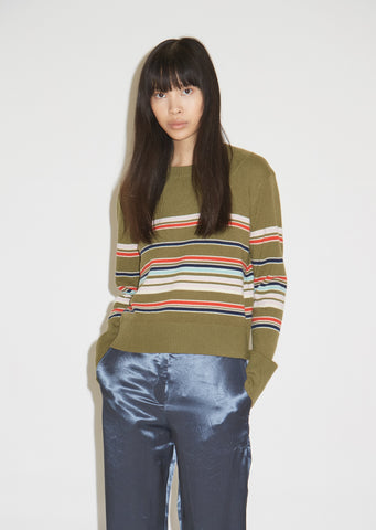 Freddy Wool and Cashmere Striped Cropped Sweater
