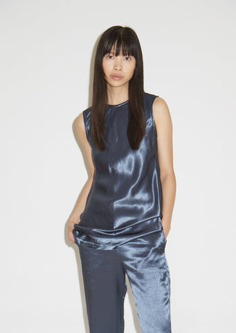 Sia Washed Satin Sleeveless Top